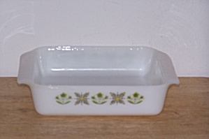 Meadow Green Anchor Hocking/fire King 8 In. Sq. Dish