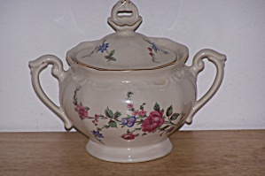 TULOWICE FLOWERED SUGAR BOWL W/LID (Image1)