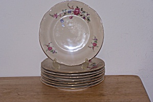 TULOWICE FLOWERED SALAD PLATE (Image1)
