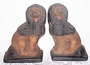 GARGOYLES STUDIO PR. PLASTER DOG BOOKENDS (Image1)
