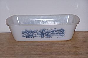 GLASBAKE LOAF PAN, CURRIER & IVES (Image1)