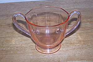 Pink Glass Sugar Bowl