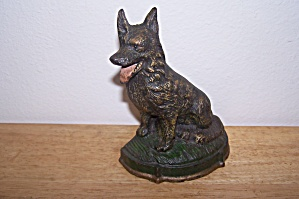 Cast Iron German Shepherd Door Stop