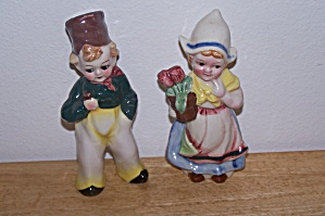 PAIR DUTCH CHILDREN FIGURINES - JAPAN (Image1)