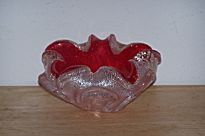 Small Cased Glass Red Bowl