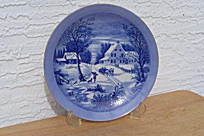 CURRIER & IVES, THE HOMESTEAD IN WINTER, PLATE (Image1)