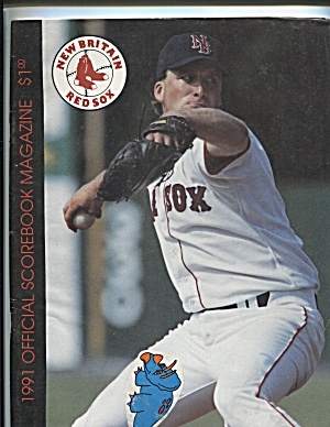 1991 NEW BRITAIN RED SOX SCOREBOOK MAGAZINE (Image1)