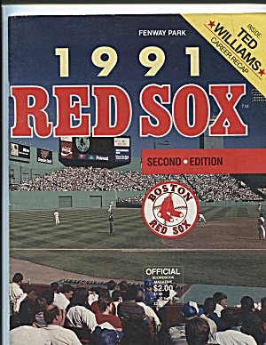1991 BOSTON RED SOX SCOREBOOK MAGAZINE (Image1)
