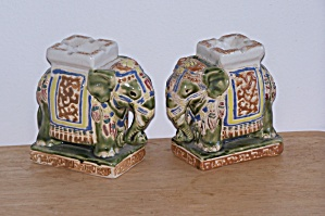 Pr. Standng Elephants Ashtrays