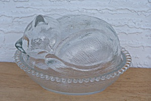 COVERED GLASS CAT BOWL (Image1)