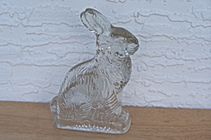 MILLSTEIN GLASS RABBIT CANDY CONTAINER (Image1)