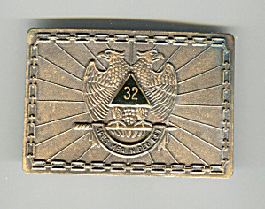 Freemason's Masonic Belt Buckle