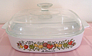 Corning Ware 10 In. Sq. Harvest Design W/cover