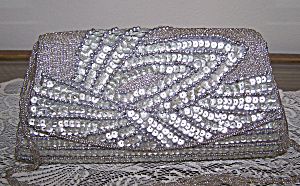 Bijoux Silver Sequence Evening Bag