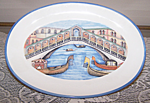 ITALIAN CANAL SCENE PLATE BY BRUNELLI (Image1)