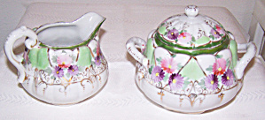 FLORAL PRINT CREAMER & COVERED SUGAR (Image1)
