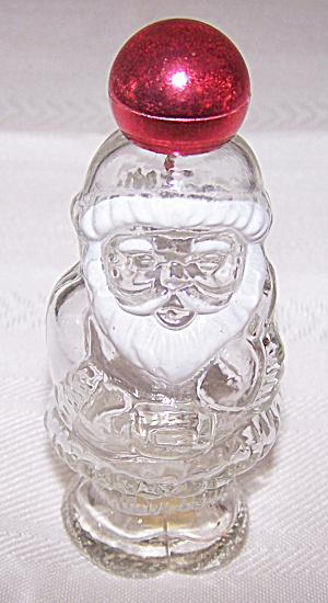 Avon Jolly Santa Glass Cologne Bottle