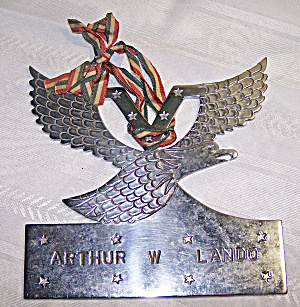 Wwii? Metal Eagle Emblem Plaque