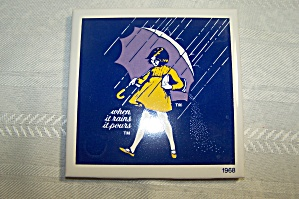 MORTON SALT 1968 COMMEMORATIVE TILE (Image1)