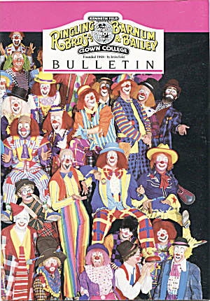 Ringling Bros Barnum Bailey Clown College Bulletin 1987 Circus At Back Door Antiques