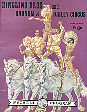 Ringling Bros And Barnum & Bailey Circus Program, 1965