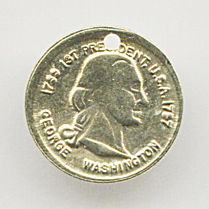 Over-sized George Washington Coin Token