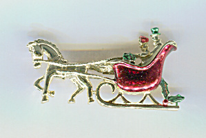 Gerry's Christmas Sleigh Pin