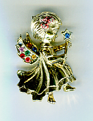 Beatrix Christmas Angel Pin