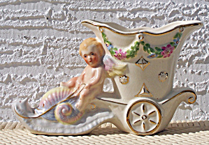 CHERUB ON SNAIL PLANTER/VASE (Image1)