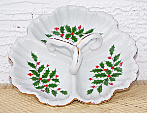 3 SECTION HANDLED CHRISTMAS DISH (Image1)