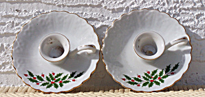 Pair Christmas Candle Holders, Japan