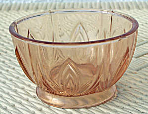 Small Pink Glass Footed Bowl