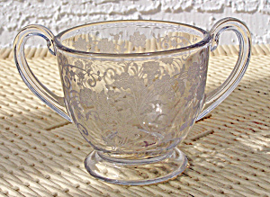 DOUBLE HANDLED ETCHED SUGAR BOWL (Image1)