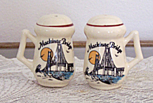 Lipco Salt & Pepper Shakers, Mackinac Bridge