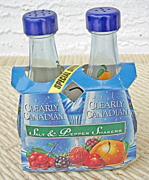 Clearly Canadian Salt & Pepper Shakers