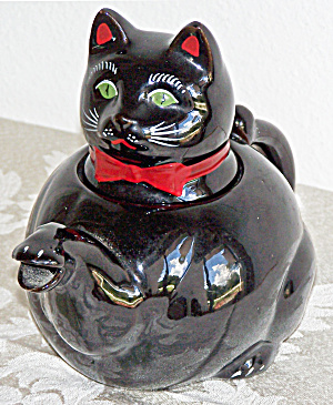 Shafford Black Cat Teapot