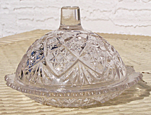 Child's Glass Covered Butter Dish
