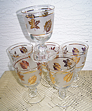 6 Stem Glasses, Golden Foliage, Libby Glass (Image1)