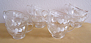 Set of 8 Anchor Hocking Handled Punch Cups (Image1)