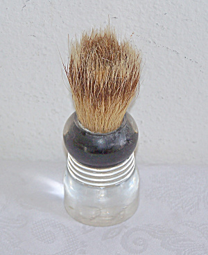 Shaving Brush, Pure Badger, Lucite Handle, U.s.a.