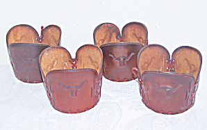 Tooled LEATHER Glass Holders. WESTERN BARWARE (Image1)