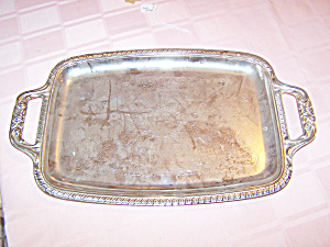 Metal Handled Tray, Scroll Design