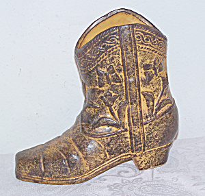 Western Cowboy Boot Decorated with Butterflies & Flower (Image1)