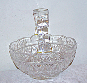 Large Wide Handle Glass Basket