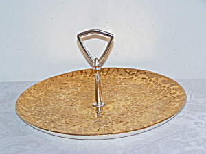 22K Weeping-Bright Gold Handled Serving Plate (Image1)
