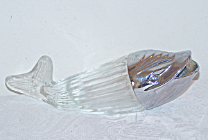 Large Glass Fish with Silver Plastic Head (Image1)