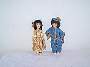 Hawaiin & Oriental Dolls in Crochet Outfits (Image1)
