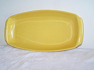 FRANKOMA Raised Lip Rectangular Yellow PLATTER (Image1)