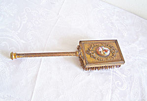Antique GOLD Design Hairbrush with  INSERT  (Image1)