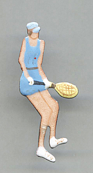 Enameled Woman Tennis Player